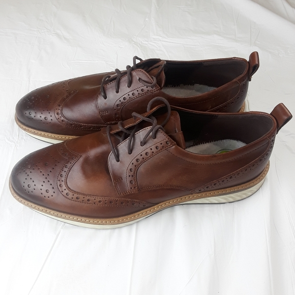 ECCO Dress Brown Shoes Rubber Soles Size 12-12.5